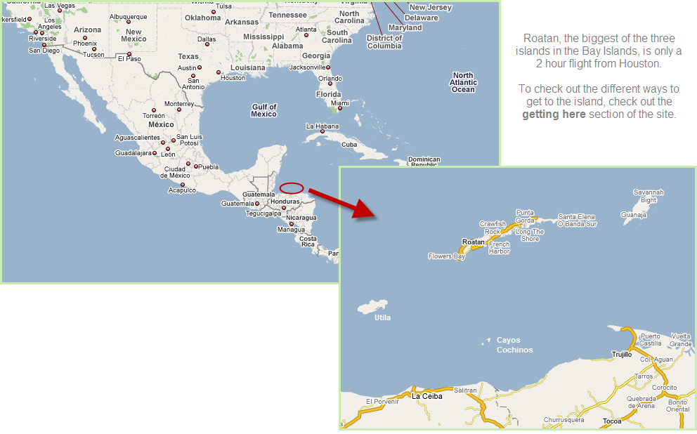 Guanajaguide Com Guanaja Honduras Island Location And Map